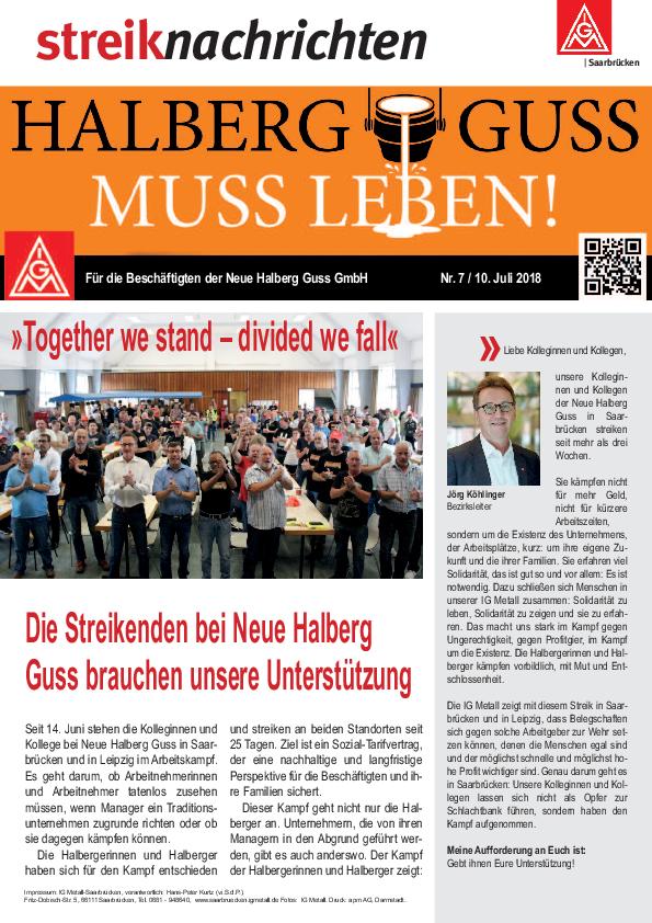 Aufruf Zur Solidaritätsdemonstration Am 12072018 Ig Metall